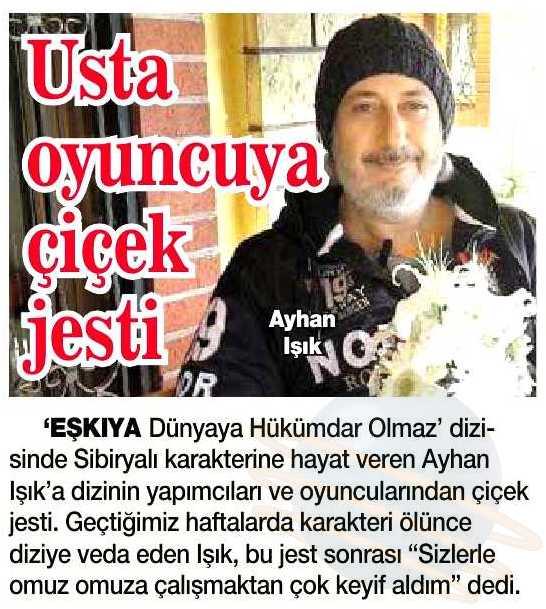 Ayhan Işık - HaberTürk Gazetesi Haberi 1