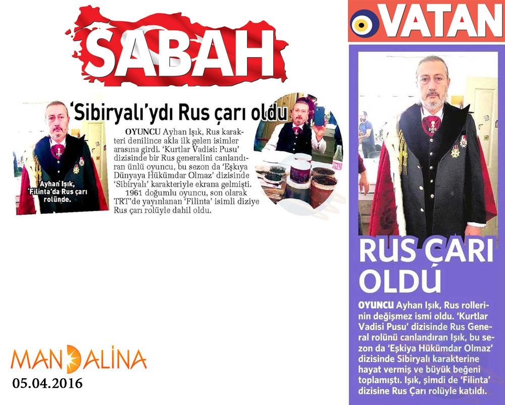 Ayhan Işık - Sabah ve Vatan Gazetesi Haberleri 1
