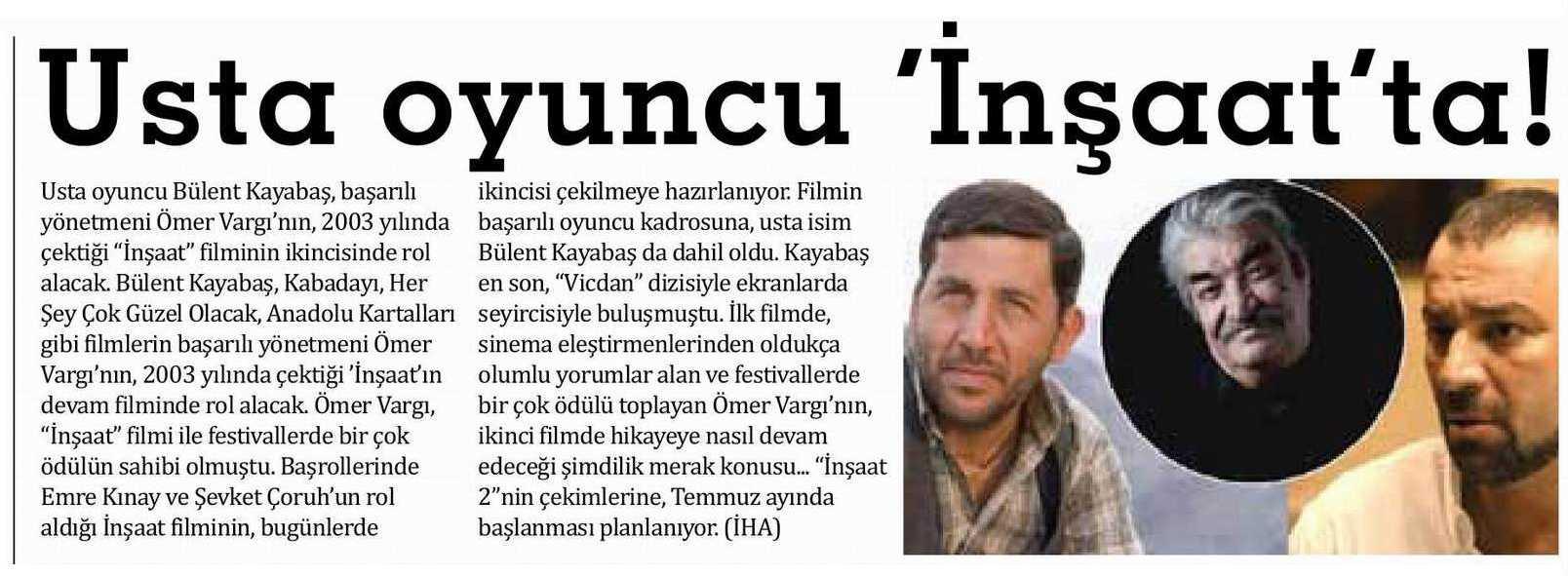 Bülent Kayabaş - Sözcü Gazetesi Haberi