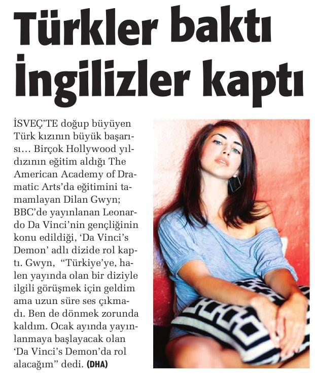 Dilan Gwyn - Akşam Gazetesi Haberi