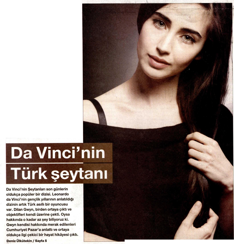 Dilan Gwyn - Cumhuriyet Gazetesi Pazar Eki Röportajı