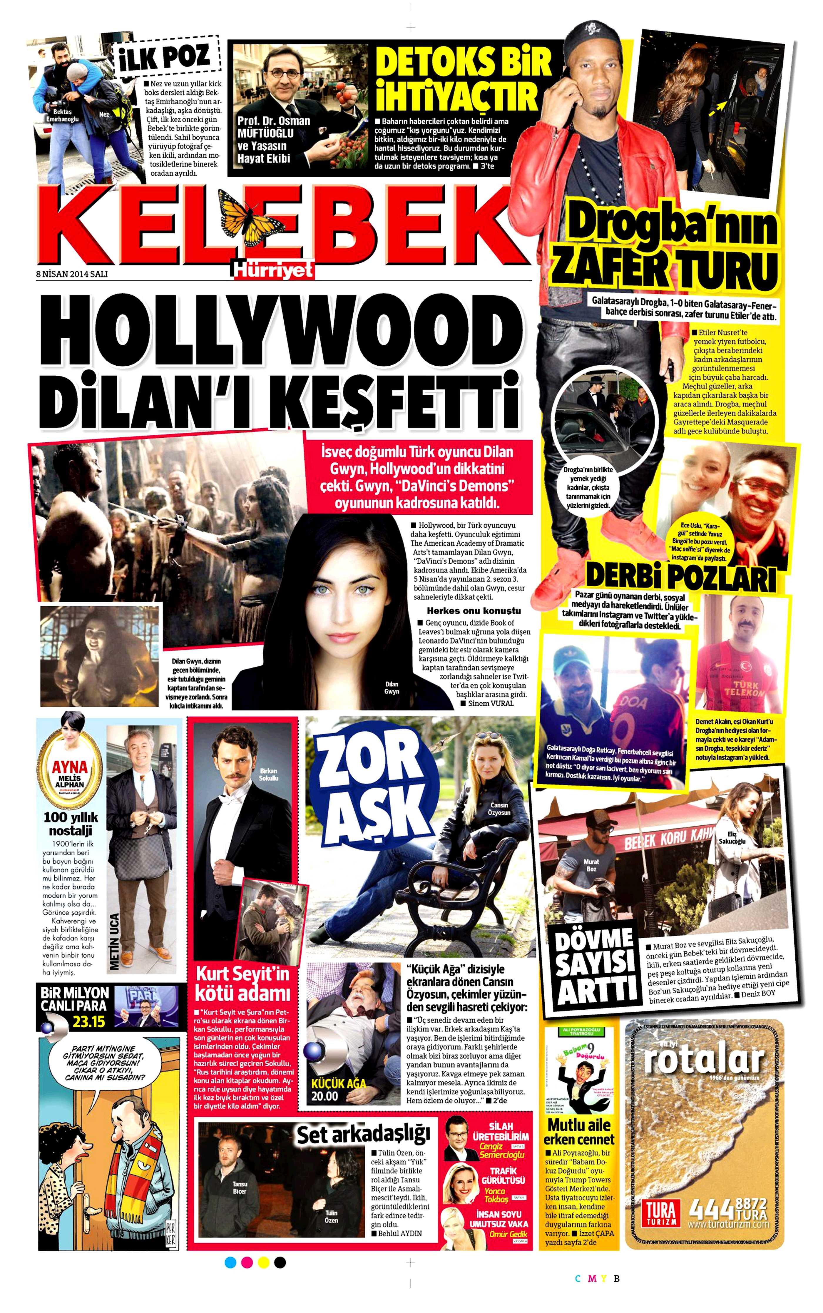 Dilan Gwyn - Hürriyet Kelebek Gazetesi Haberi 2