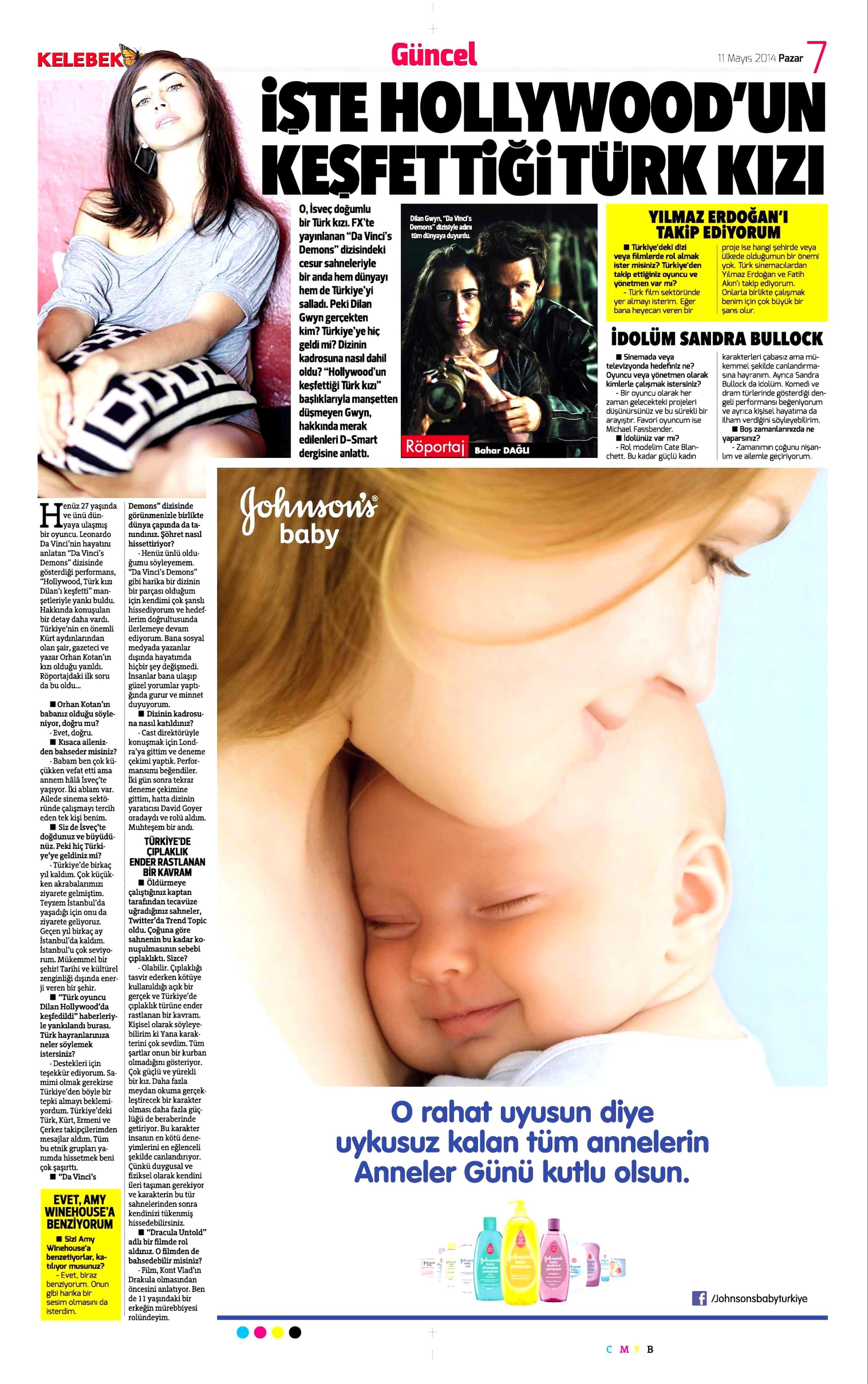 Dilan Gwyn - Hürriyet Kelebek Gazetesi Röportajı 2
