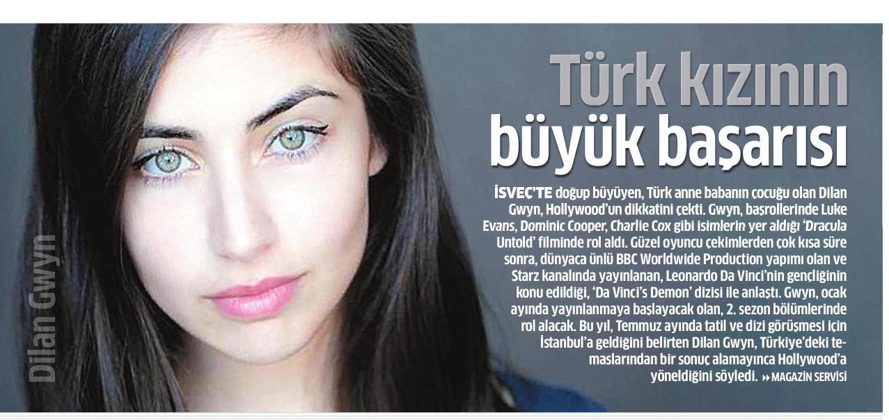 Dilan Gwyn - Star Gazetesi Haberi 2