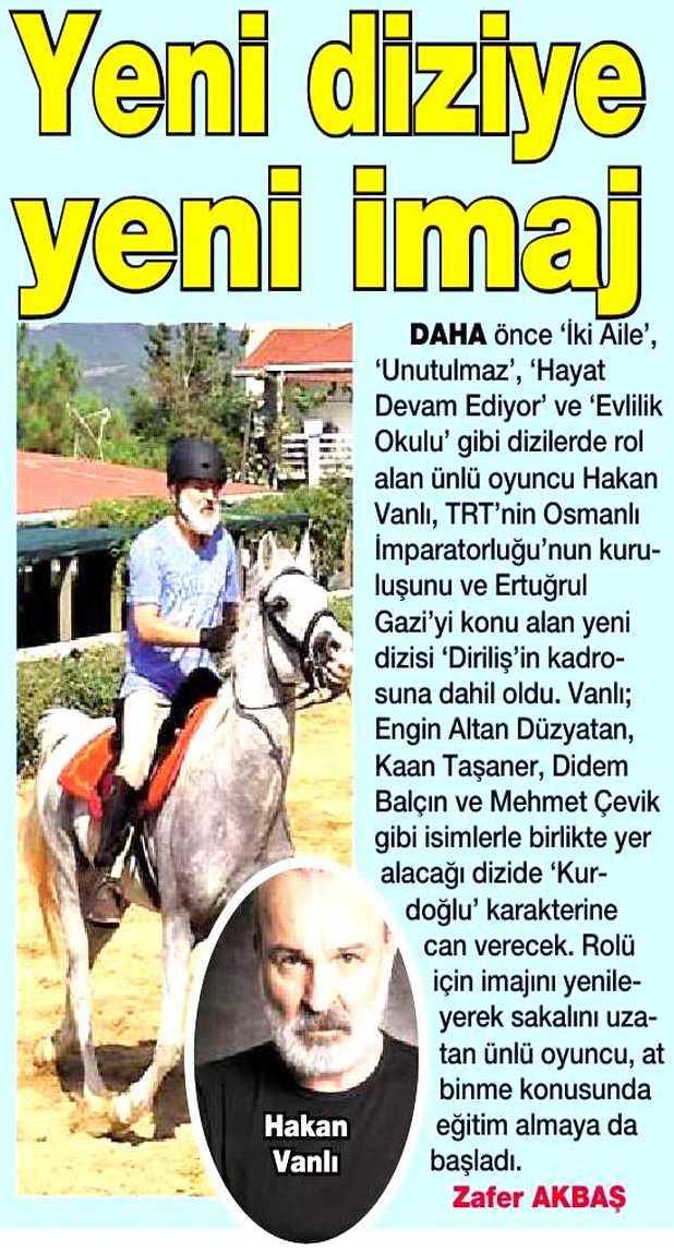 Hakan Vanlı - HaberTürk Magazin Gazetesi Haberi