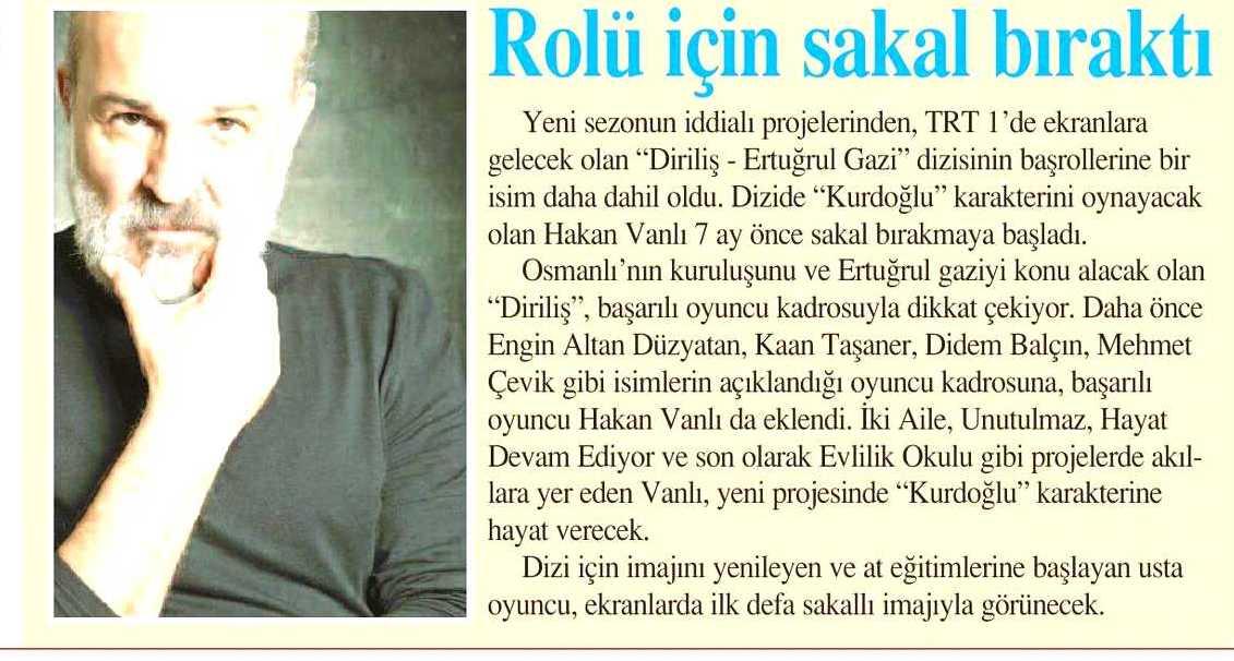 Hakan Vanlı - İstanbul Gazetesi Haberi