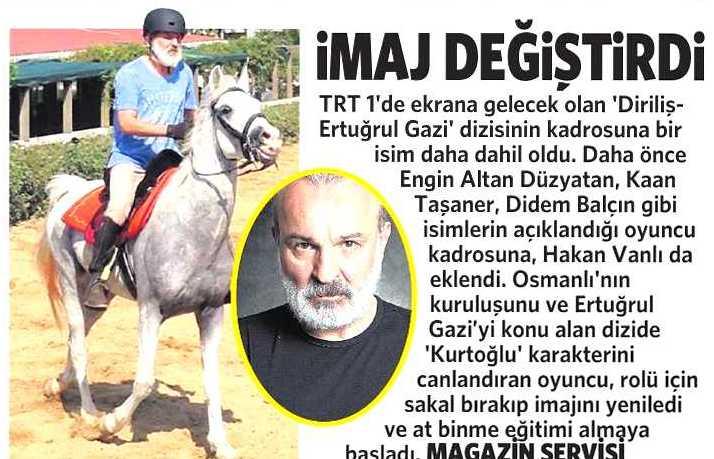 Hakan Vanlı - Milliyet Cadde Gazetesi Haberi