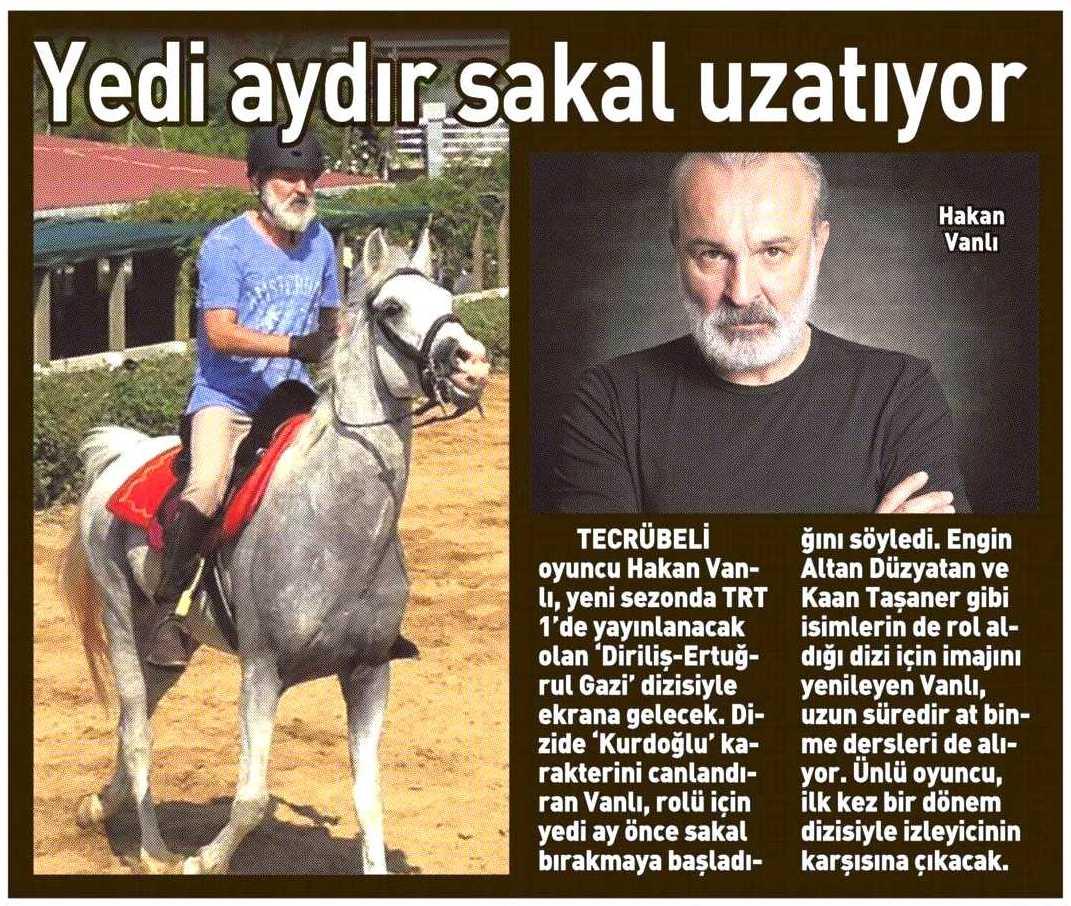 Hakan Vanlı - Sabah Günaydın Gazetesi Haberi