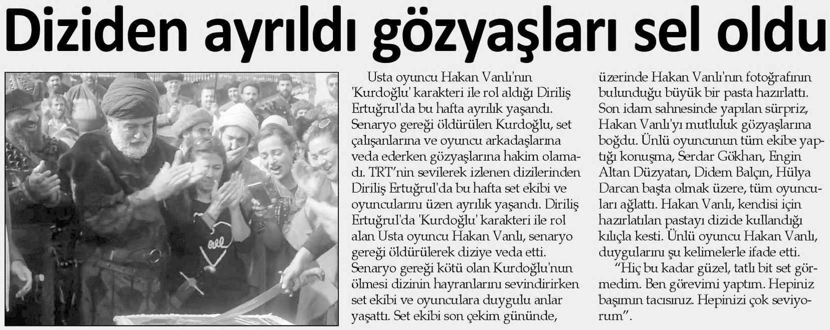 Hakan Vanlı - Şok Gazetesi Haberi