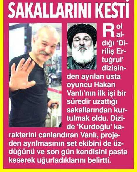 Hakan Vanlı - Vatan Gazetesi Haberi