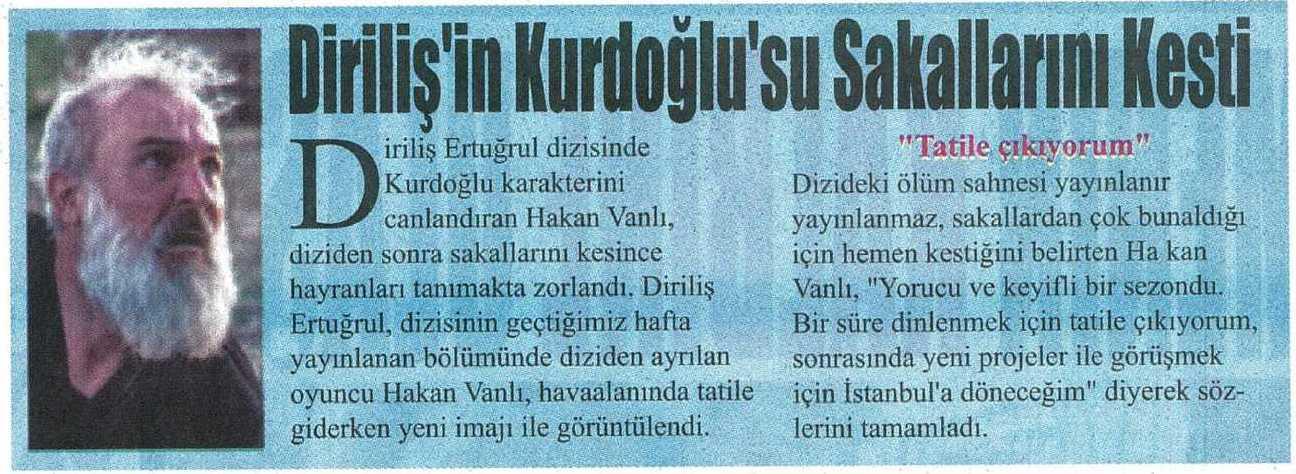 Hakan Vanlı - Star Gazetesi Haberi