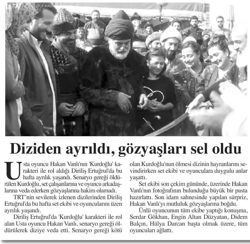 Hakan Vanlı - Yeni Şafak Gazetesi Haberi