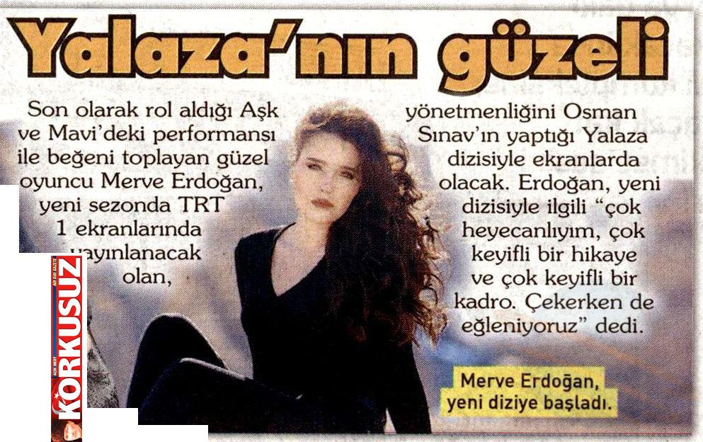 Merve Erdoğan - Korkusuz Gazetesi Haberi