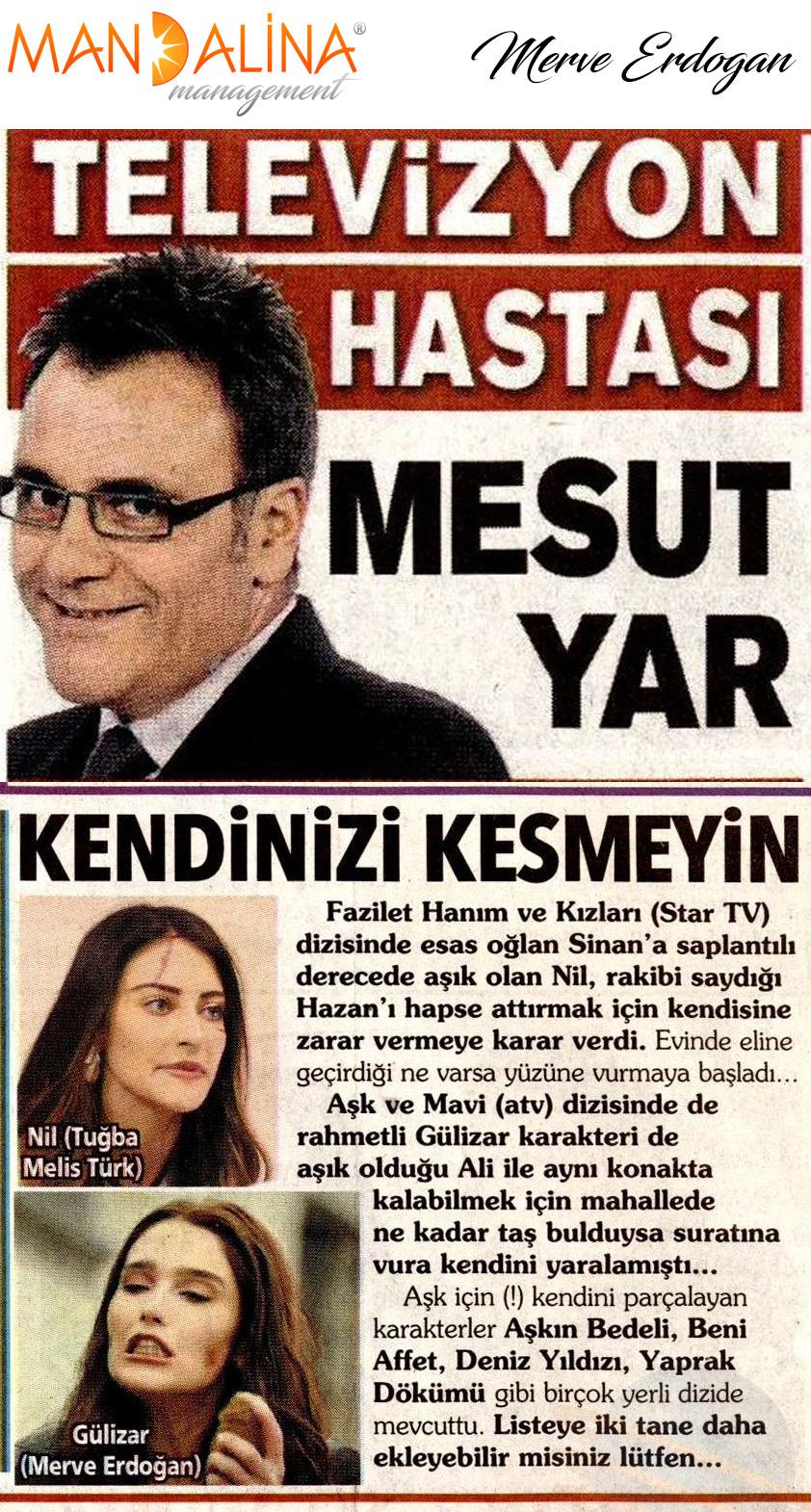 Merve Erdoğan - Posta Gazetesi Mesut Yar Köşe Yazısı