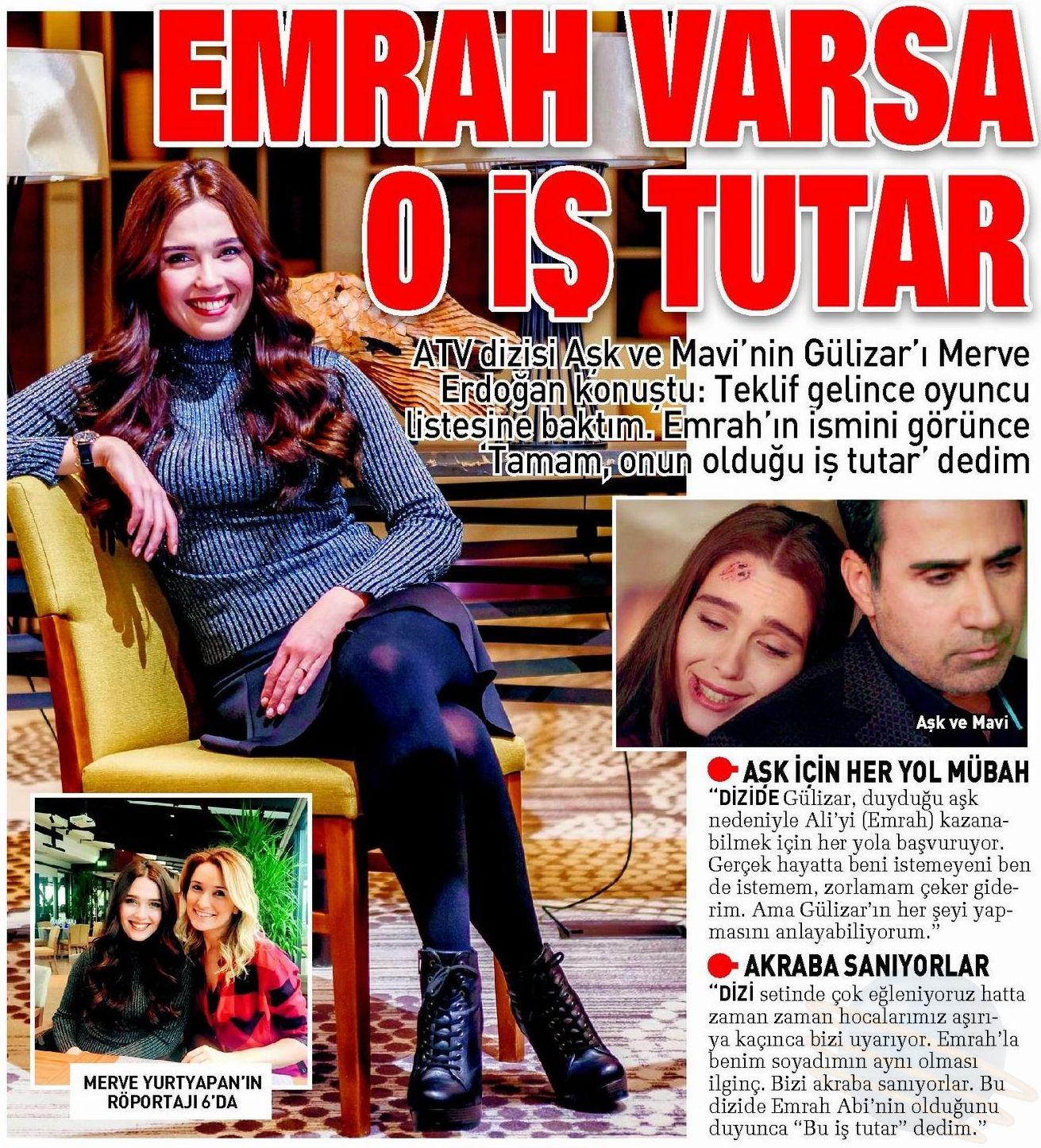 Merve Erdoğan - Sabah Gazetesi Röportajı
