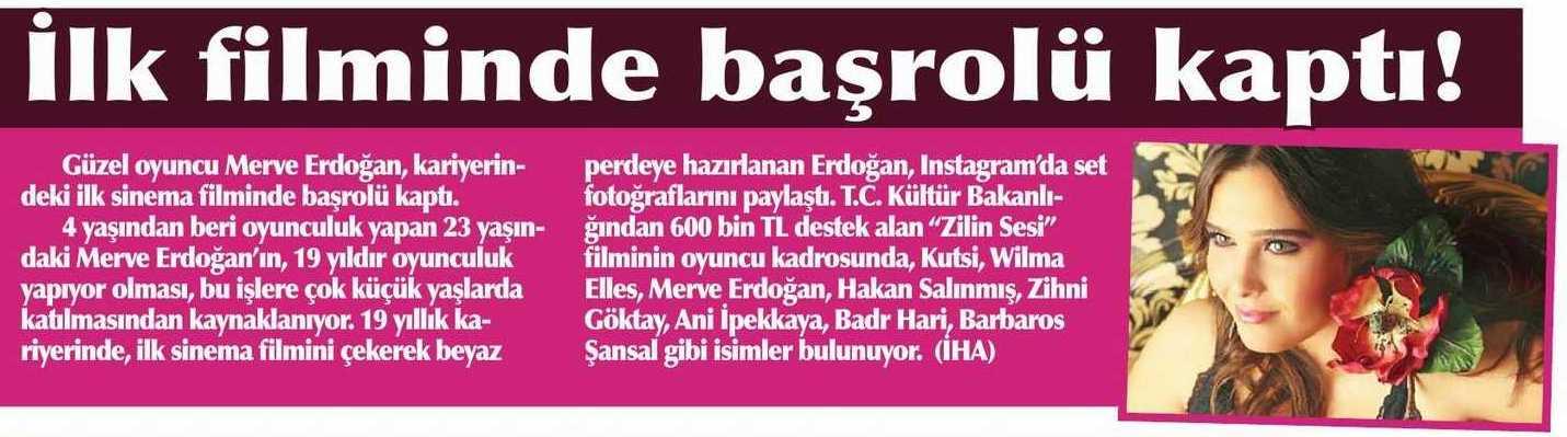Merve Erdoğan - Şok Gazetesi Haberi
