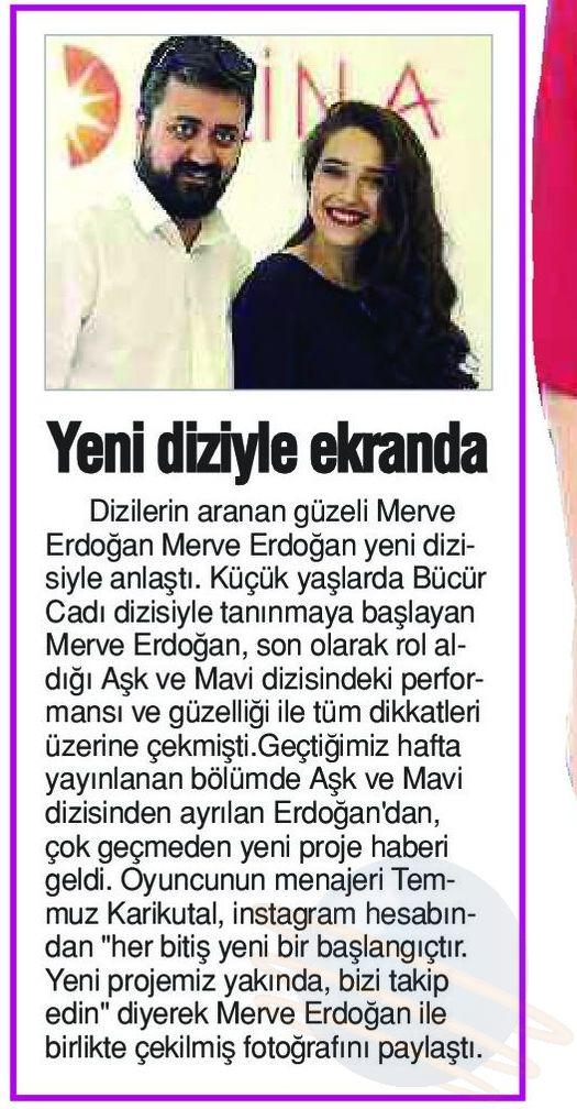 Merve Erdoğan - Sözcü Gazetesi Haberi