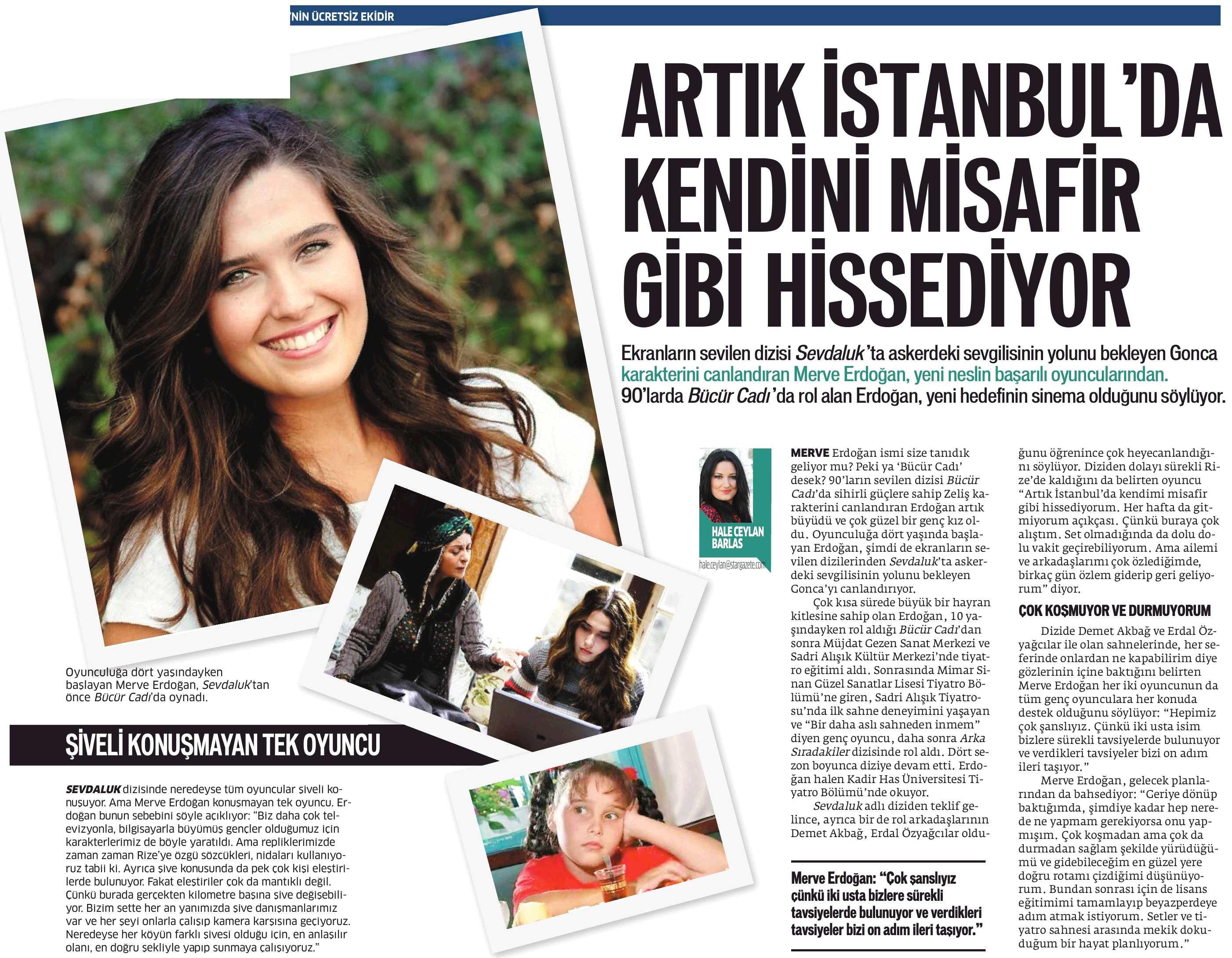 Merve Erdoğan - Star Gazetesi Röportajı