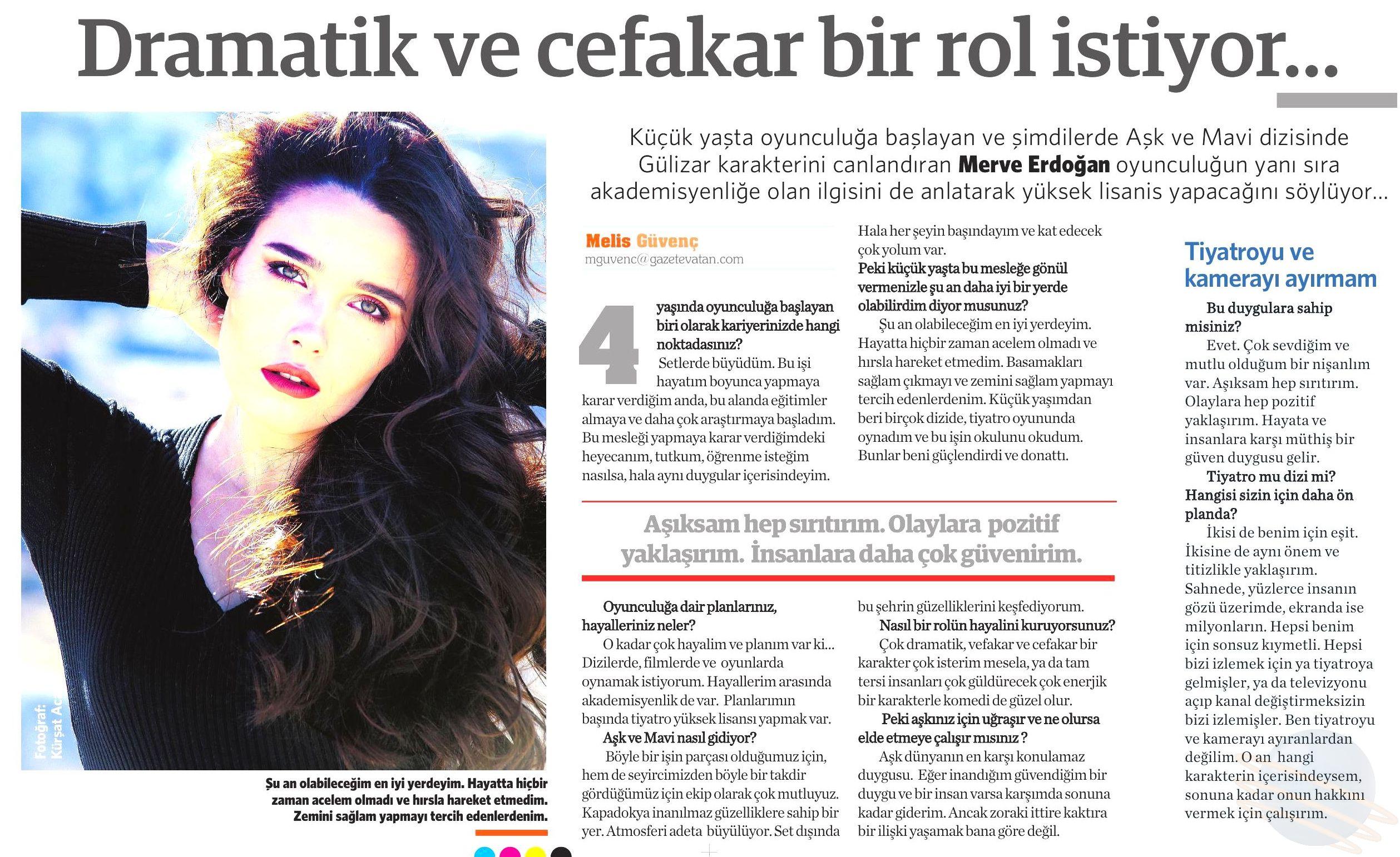 Merve Erdoğan - Vatan Gazetesi Röportajı 2