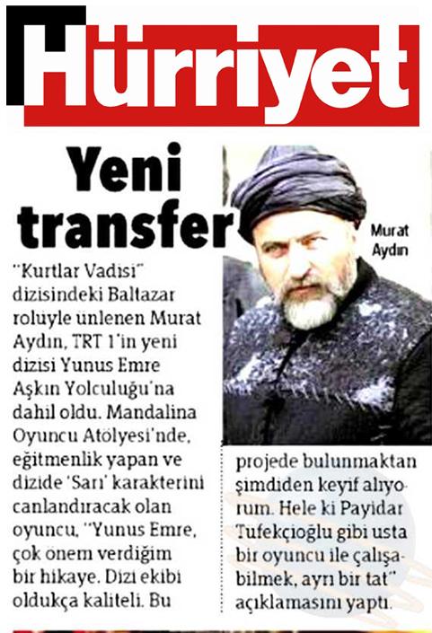 Murat Aydın - Hürriyet Gazetesi haberi