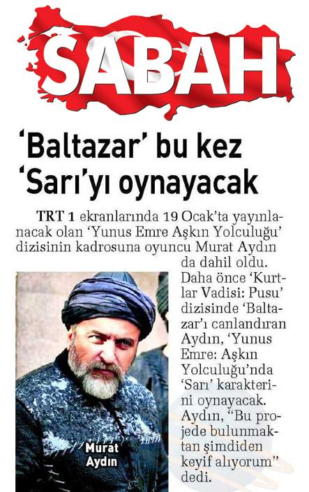 Murat Aydın - Sabah Gazetesi haberi