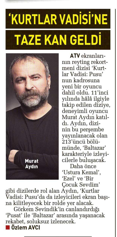 Murat Aydın - Sabah Günaydın Gazetesi Haberi
