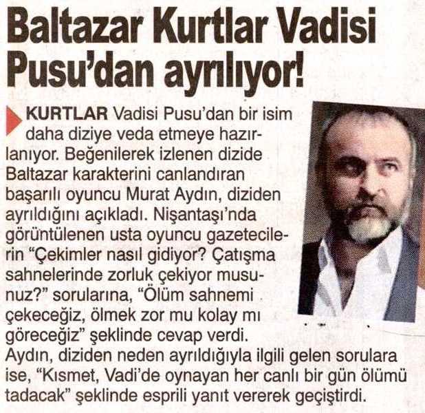 Murat Aydın - Şok Gazetesi Haberi