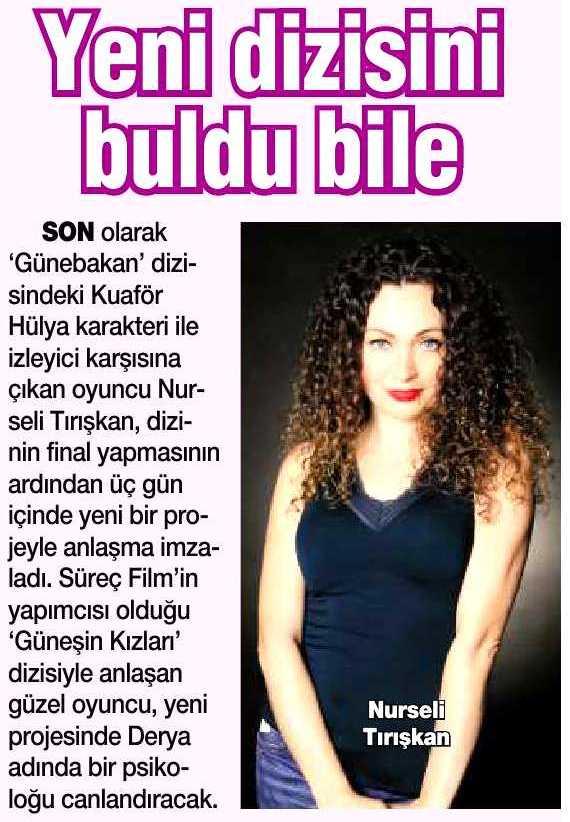 Nurseli Tırışkan - HaberTürk Gazetesi Haberi