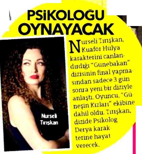 Nurseli Tırışkan - Hürriyet Gazetesi Haberi