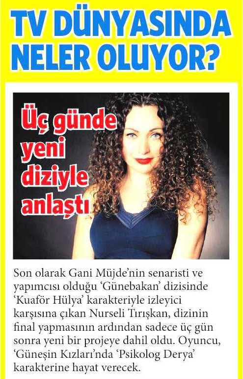 Nurseli Tırışkan - Milliyet Gazetesi Haberi