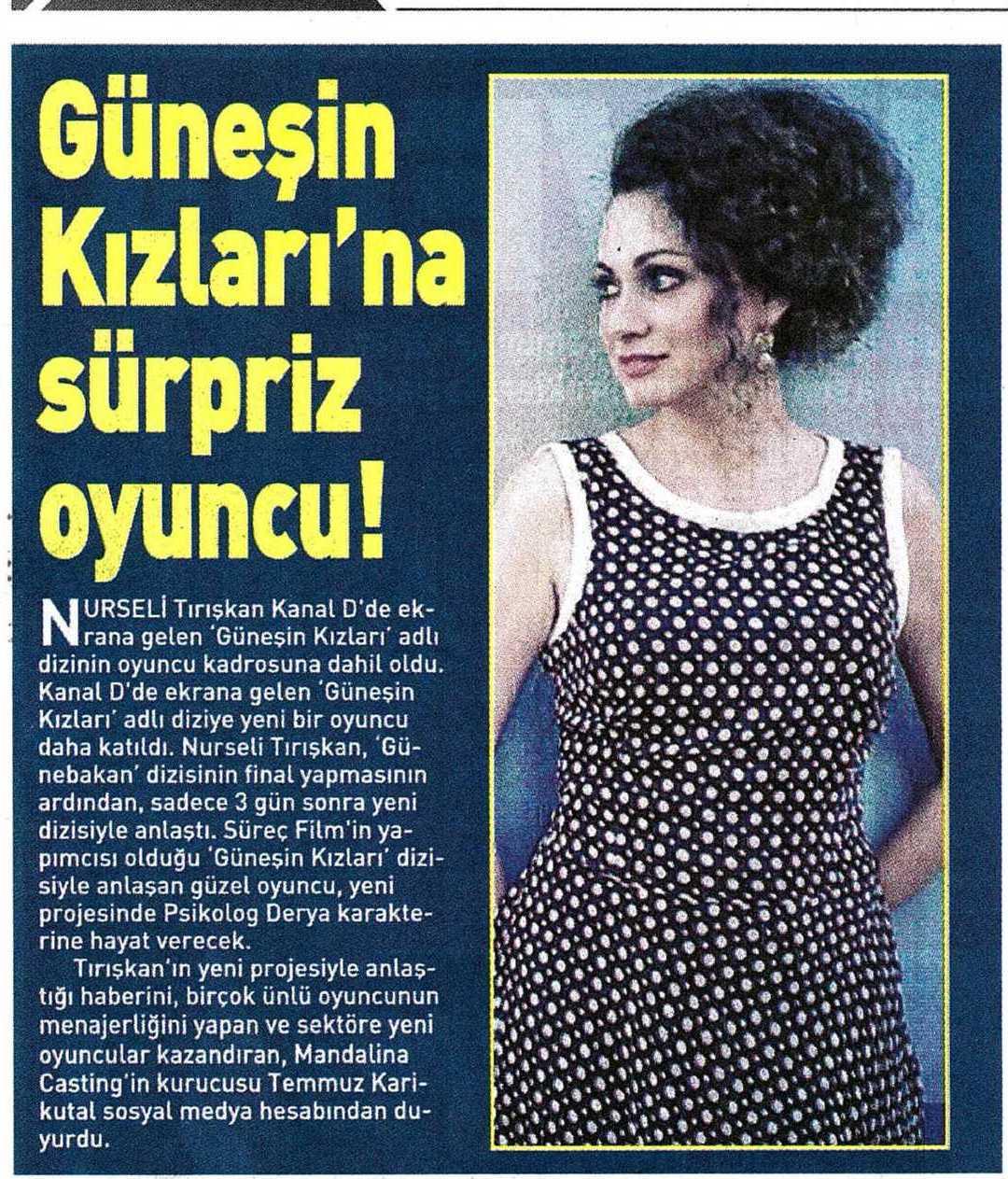 Nurseli Tırışkan - Trabzon Türk Sesi Gazetesi Haberi
