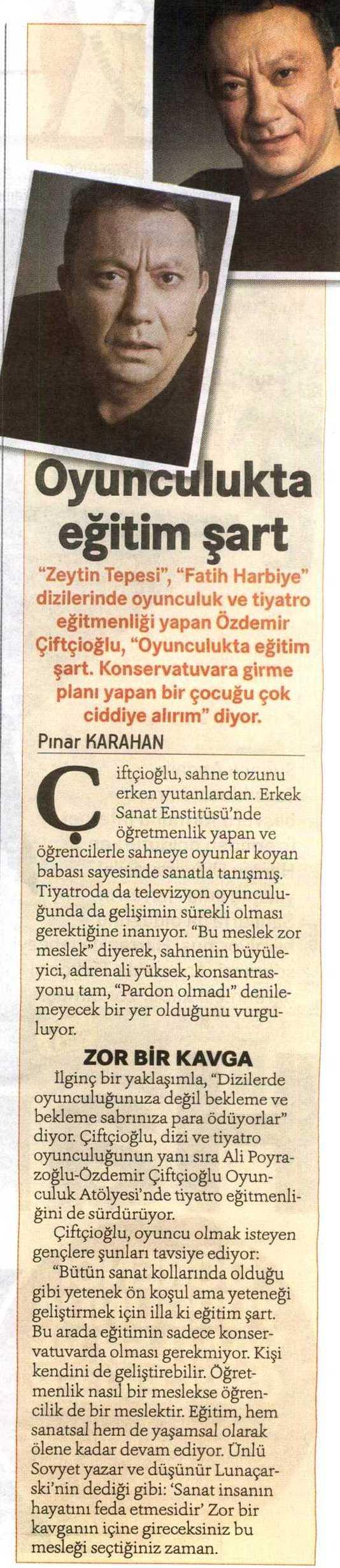 Özdemir Çiftçioğlu - Hürriyet Kampüs Haberi