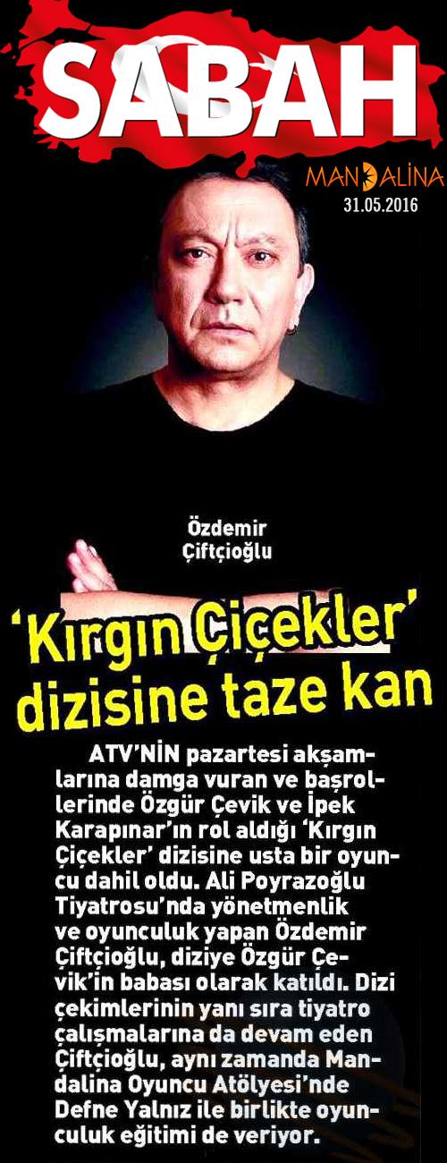 Özdemir Çiftçioğlu - Sabah Gazetesi Haberi