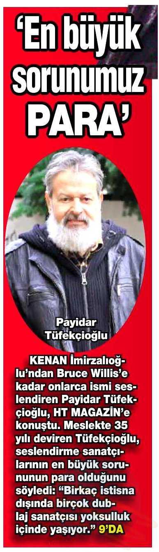 Payidar Tüfekçioğlu - HaberTürk Gazetesi Röportajı 2