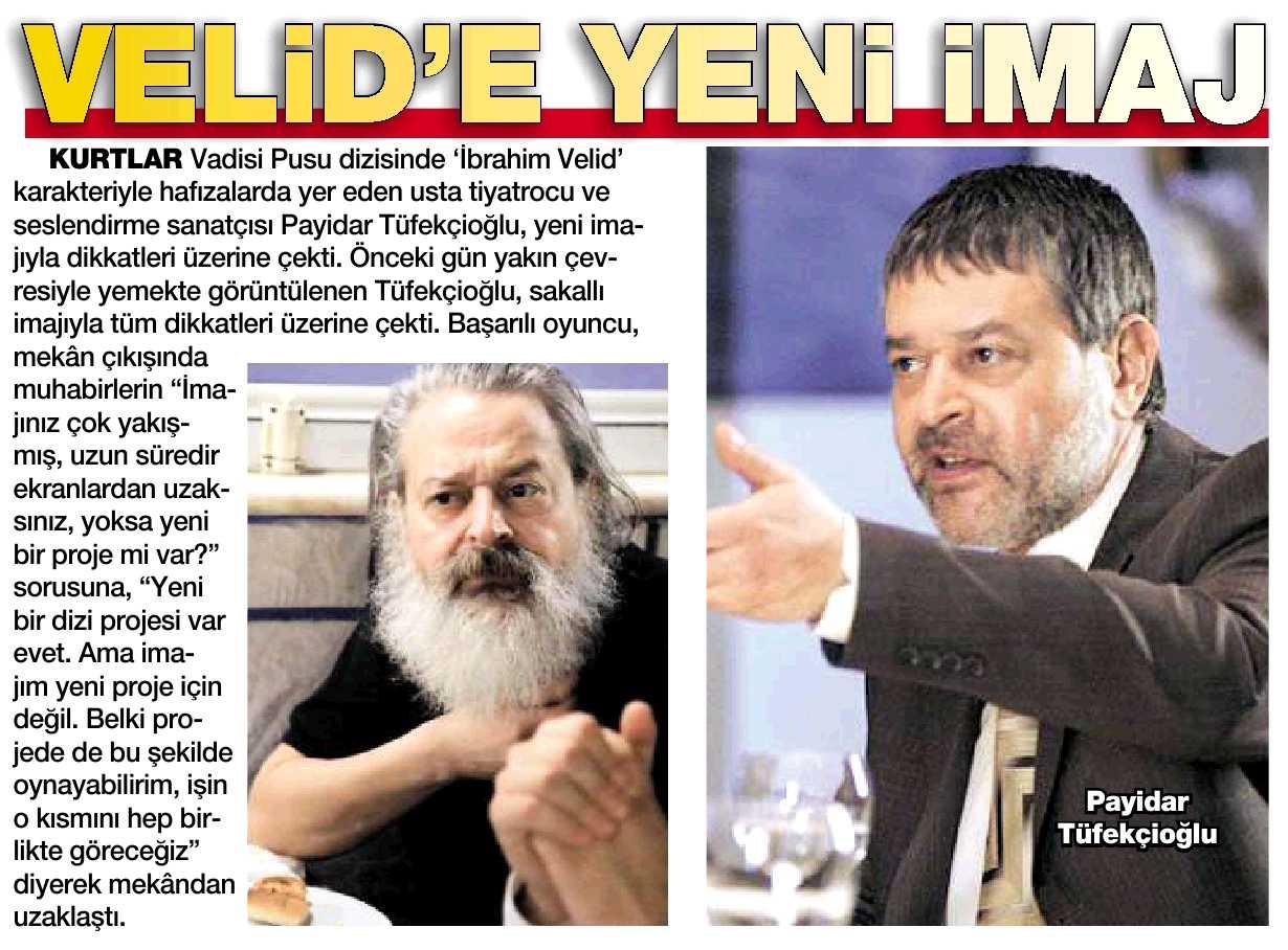 Payidar Tüfekçioğlu - HaberTürk Magazin Haberi