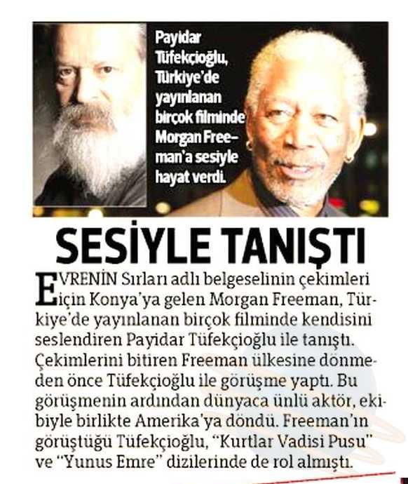 Payidar Tüfekçioğlu - Hürriyet Gazetesi Haberi
