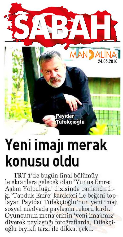 Payidar Tüfekçioğlu - Sabah Gazetesi Haberi