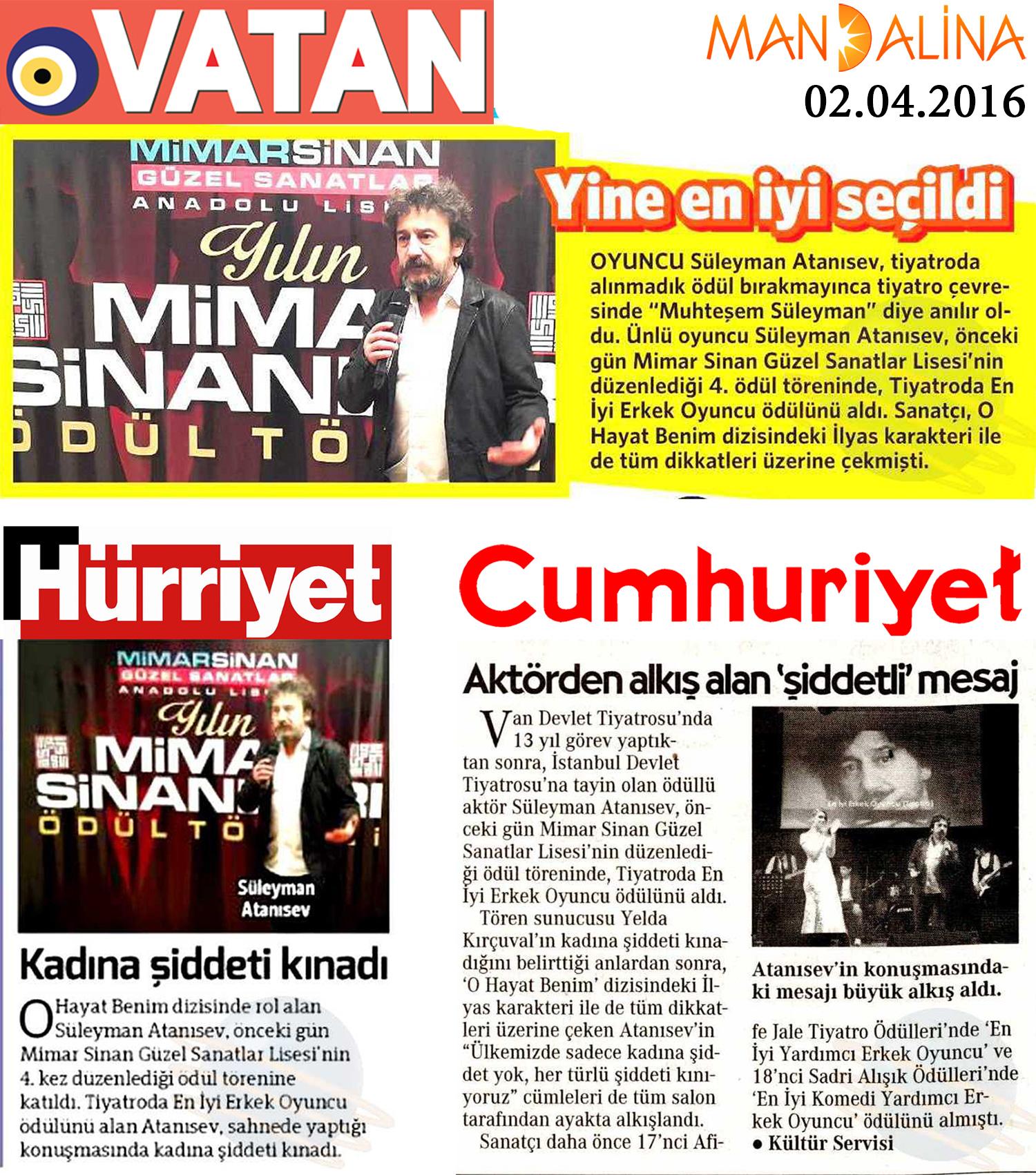 Süleyman Atanısev - Gazete Haberleri