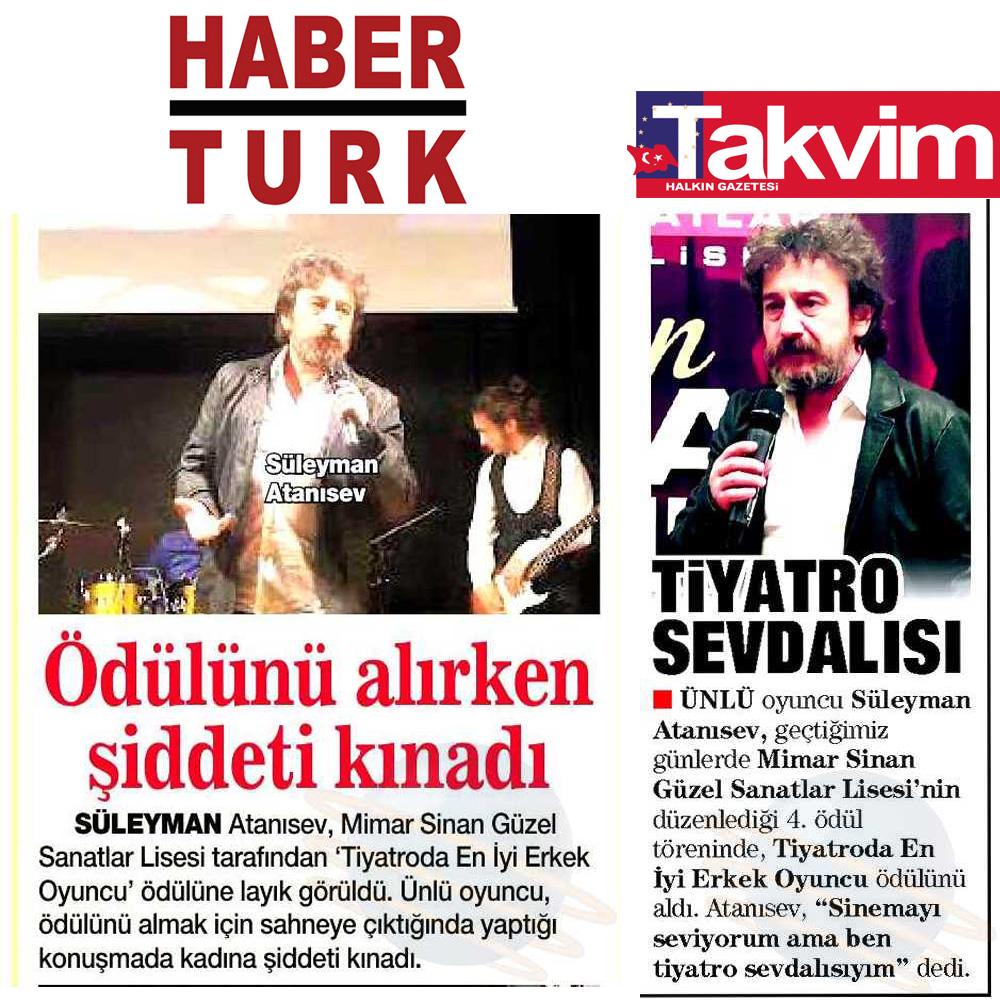 Süleyman Atanısev - HaberTürk ve Takvim Gazetesi Haberleri