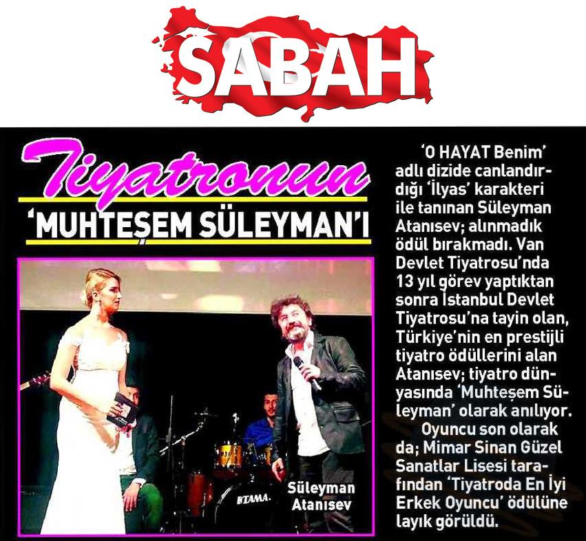 Süleyman Atanısev - Sabah Gazetesi Haberi